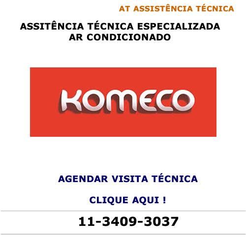 Agendar visita técnica ar condicionado Komeco
