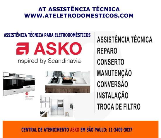 Assistência técnica eletrodomésticos Asko