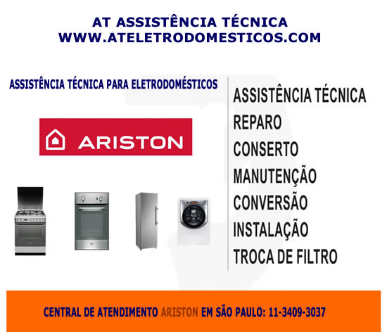 Assistência técnica eletrodomésticos Ariston