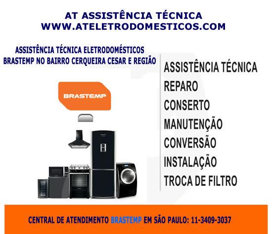 Assistência eletrodomésticos Brastemp Cerqueira Cesar